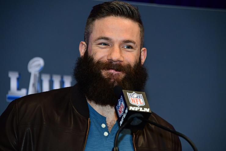 Julian Edelman Lets Ellen Shave His Playoff Beard For Charity