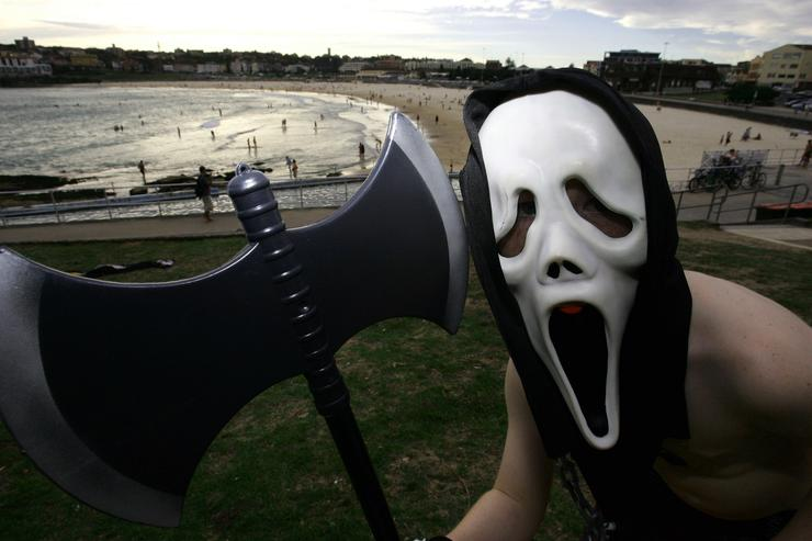 Lottery victor  wears Scream mask to collect £1million prize