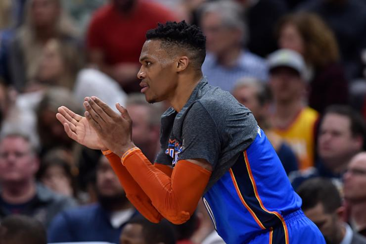 Russell Westbrook Has Heated Encounter With Fan During Jazz-Thunder