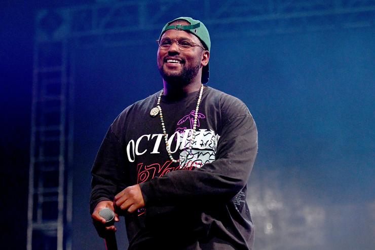 Rapper Schoolboy Q performs onstage at the Rolling Loud Festival at NOS Events Center on December 16, 2017 in San Bernardino, California.