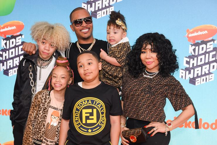 T.I. & Tiny and their family at Nickelodeon's 2019 Kids' Choice Awards