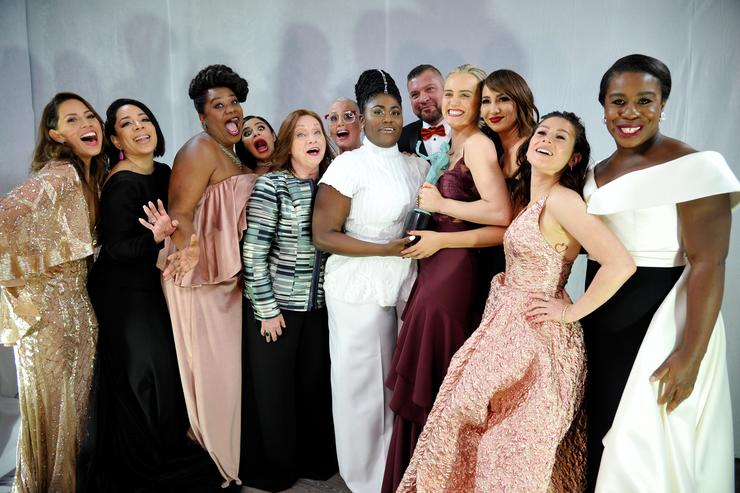 JANUARY 29: The cast of Orange is the New Black celebrates backstage at The 23rd Annual Screen Actors Guild Awards at The Shrine Auditorium on January 29, 2017 in Los Angeles, California.