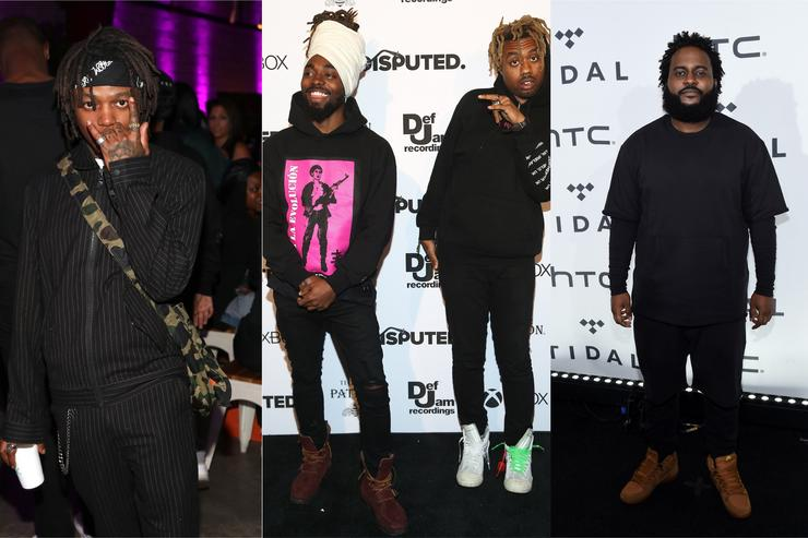 Dreamville signees J.I.D., EarthGang and Bas.
