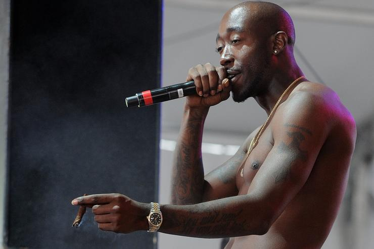 Freddie Gibbs performs on stage at the SKYY Vodka Stage At Governors Ball - Day 3 at Randall's Island on June 9, 2013 in New York City