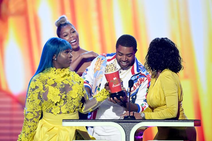 Spice, Bambi, Lil Scrappy and Karlie Redd accept the Best Reality Royalty award for 'Love & Hip Hop: Atlanta' onstage during the 2019 MTV Movie and TV Awards