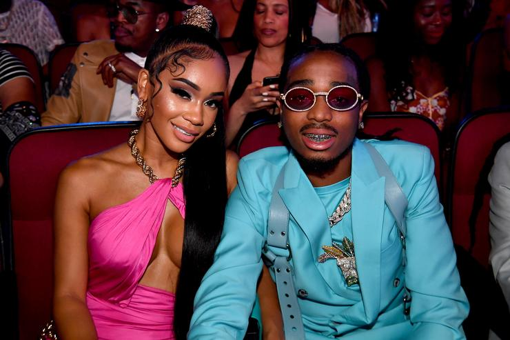 Quavo and Saweetie boo'd up