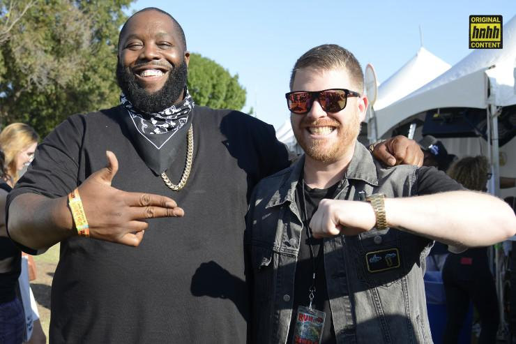 Run the Jewels: Killer Mike and El-P pose together