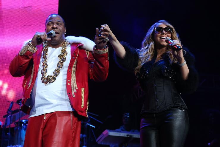 Busta Rhymes and Mariah Carey at HOT 97's Hot For The Holidays Concert