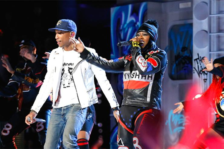 Pharrell & Missy performing on The Voice finale