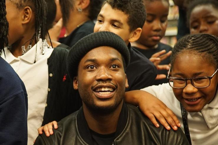 Meek Mill at charity event