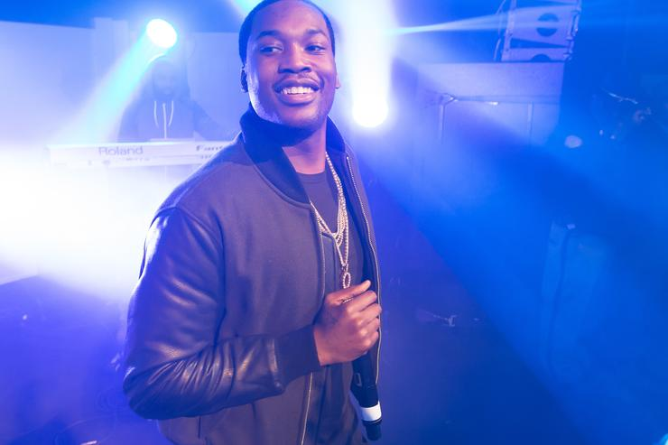 Meek Mill at a bacardi event