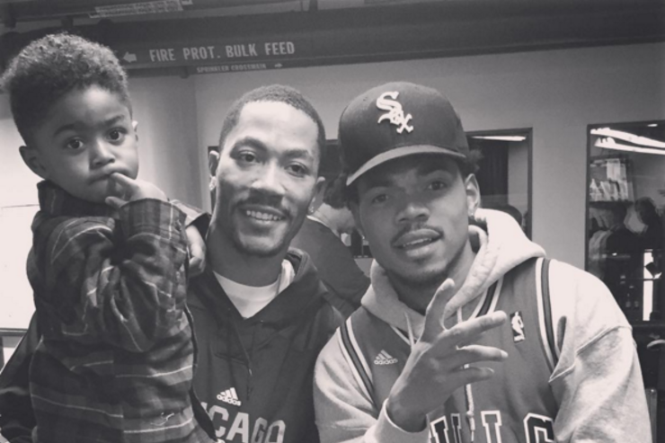 Chance the Rapper and Derrick Rose