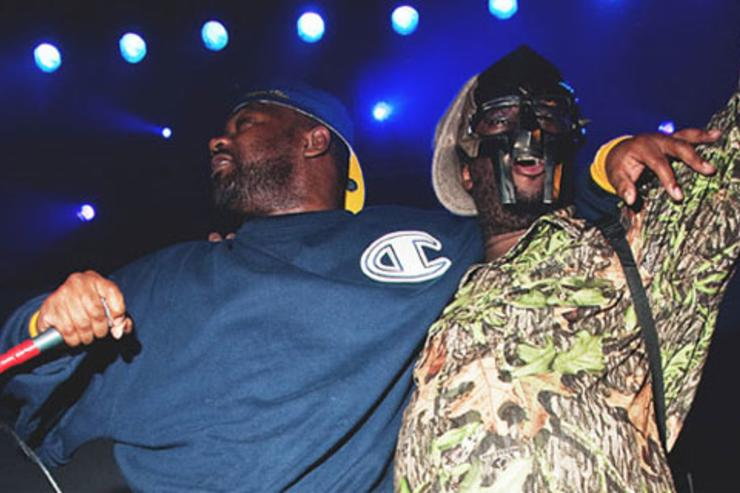 Ghostface & Doom performing on stage together