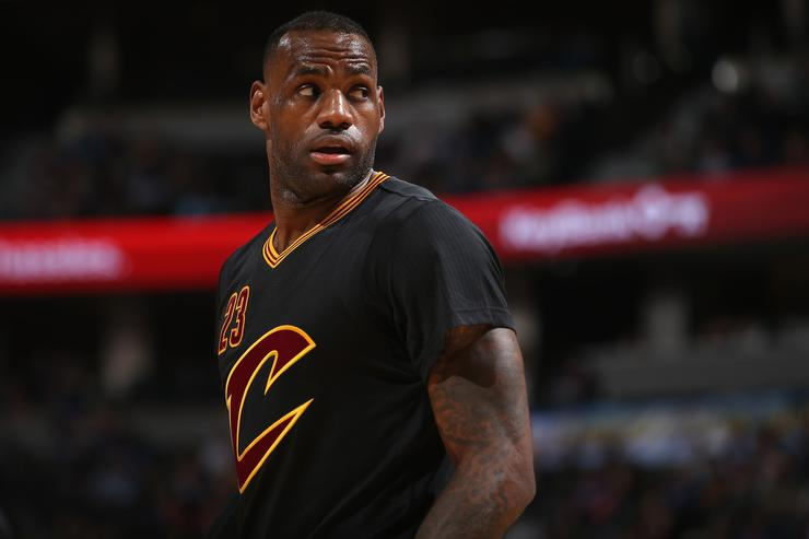 LeBron James during a game against the Phoenix Suns