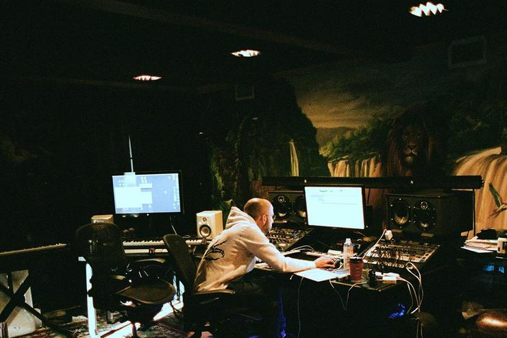 """Noah """"40"""" Shebib working on """"Views From The 6"""""""