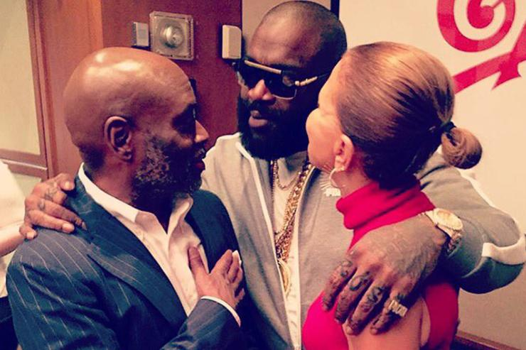 Rick Ross & LA Reid hanging out after singing new deal