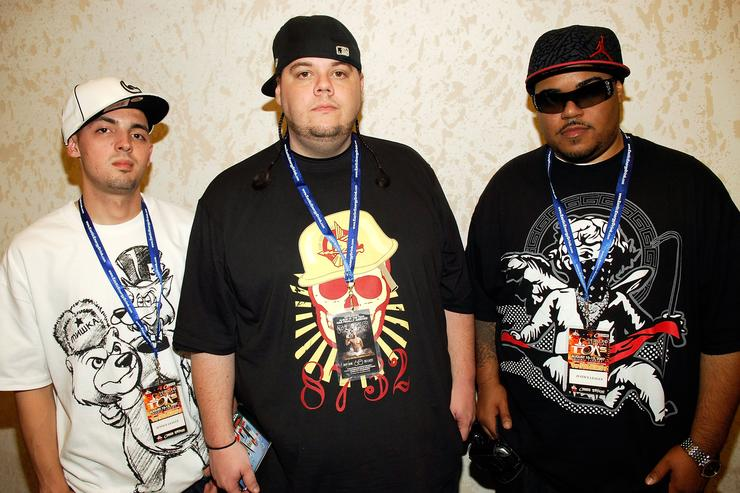 Kenny, Coliono, and Rook of JUSTICE League at TJs DJs 2nd Annual Tastemakers Music Conference - Day Two