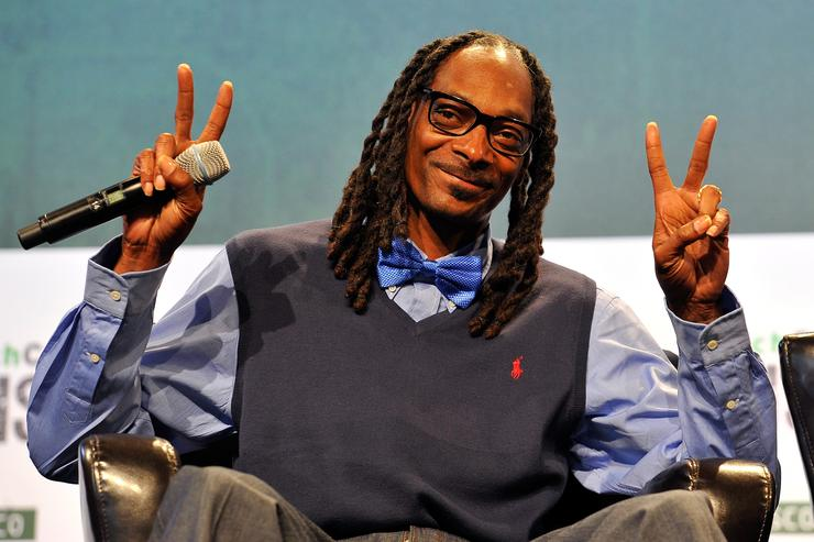 Recording artist Snoop Dogg speaks onstage during day one of TechCrunch Disrupt SF 2015 at Pier 70 on September 21, 2015 in San Francisco, California
