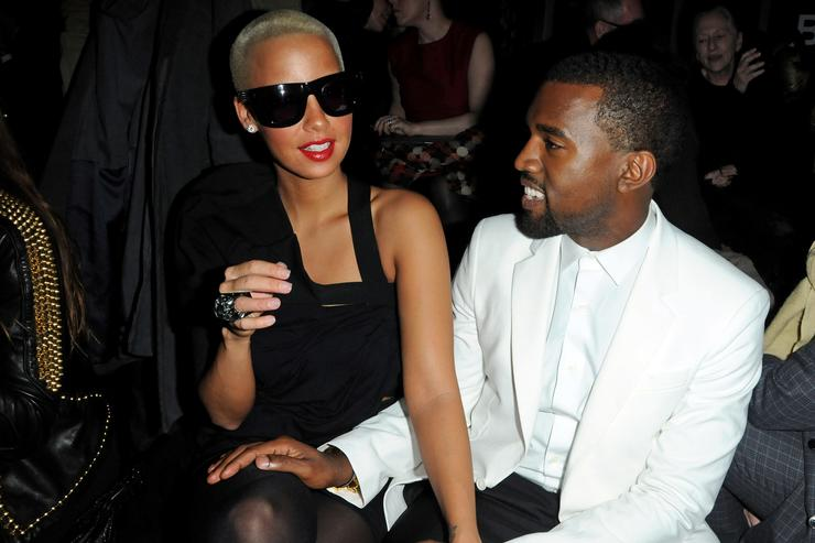 Kanye West & Amber Rose at Paris Fashion Week