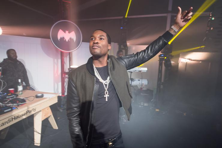Meek Mill performs at the Bacardi Untamable House in Atlanta in 2015.