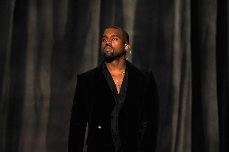 Kanye West performs onstage during The 57th Annual GRAMMY Awards