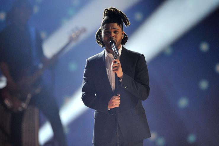 The Weeknd performs at the 2015 JUNO Awards at FirstOntario Centre