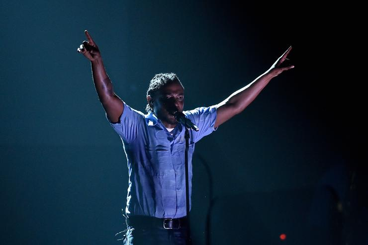 Kendrick Lamar performs at Grammys