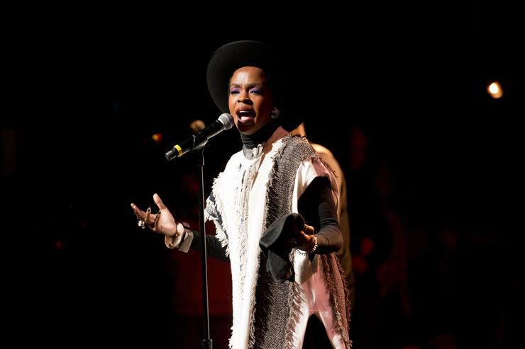 Lauryn Hill performs on stage