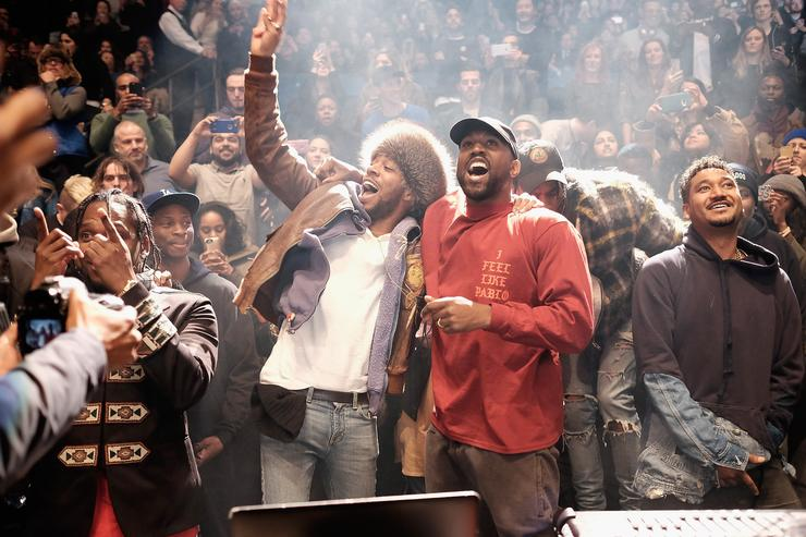 Kanye West performs during Kanye West Yeezy Season 3