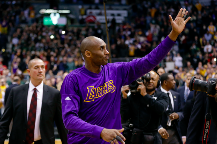 Kobe Bryant says farewell.