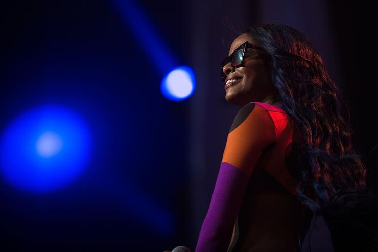Azealia Banks performs on stage at Byron Bay