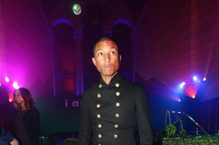 Pharrell at an 'I am Other' event