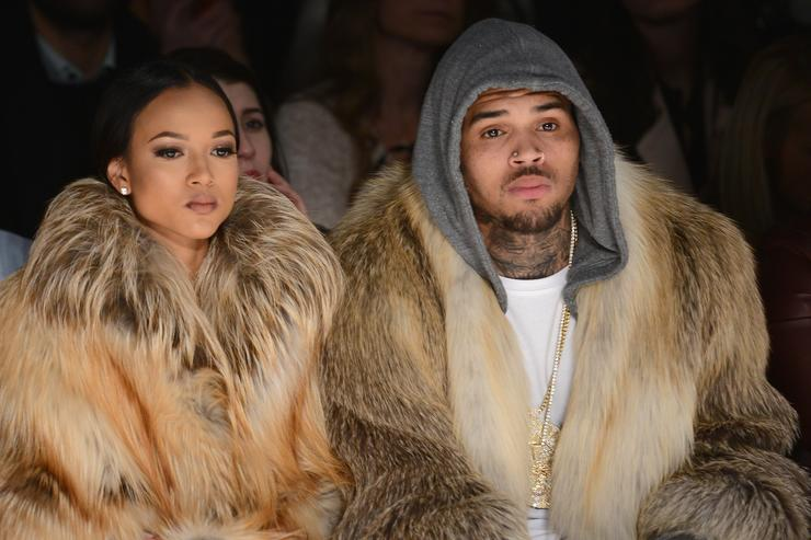 Chris Brown and Karrueche Tran when they were together.