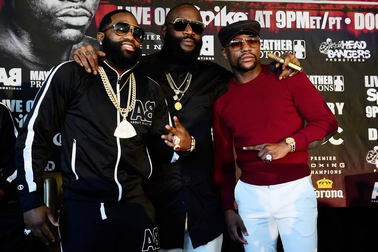 Adrien Broner v Ashely Theophane - Fight Announcement with Floyd Mayweather & Rich Ross