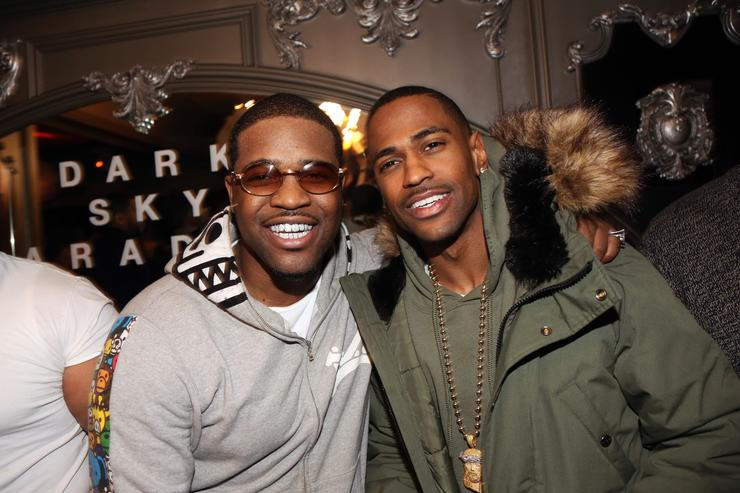 A$AP Ferg and Big Sean attend Big Sean's 'Dark Sky Paradise' Album Listening Party at Up & Down on February 23, 2015, in New York City
