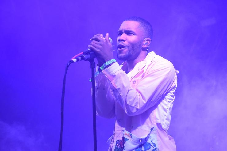 Frank Ocean performing at Bonnaroo 2014