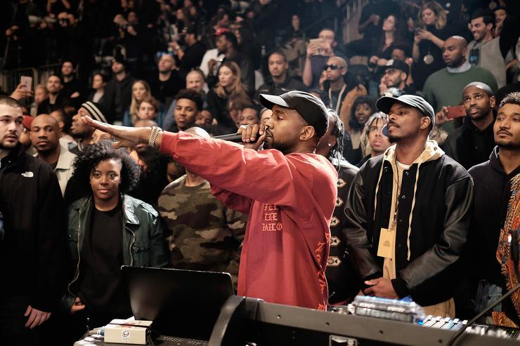 Kanye West at Yeezy 3 show at MSG