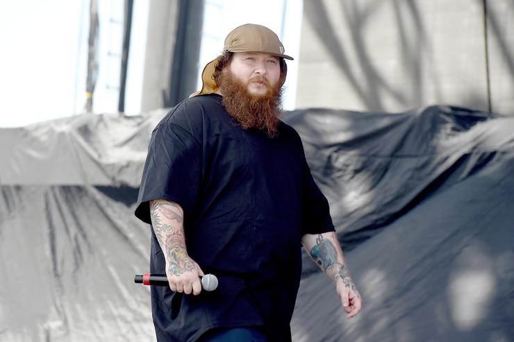 Recording artist Action Bronson performs onstage during day 1 of the 2015 Coachella Valley Music & Arts Festival (Weekend 1) at the Empire Polo Club on April 10, 2015 in Indio, California.