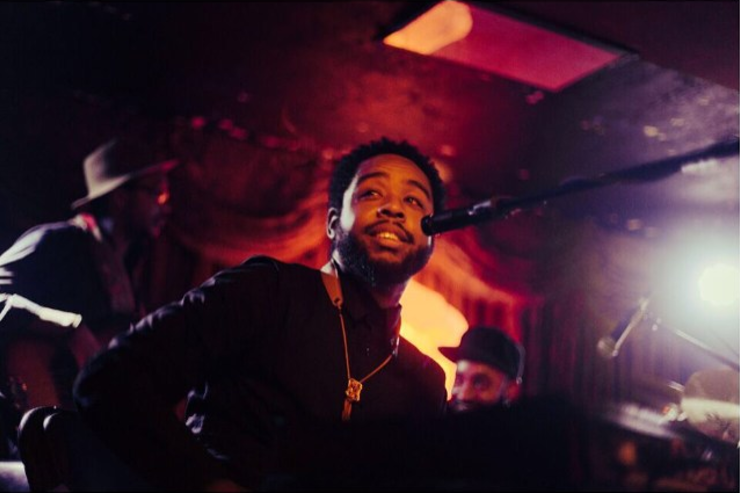 Terrace Martin performing on stage