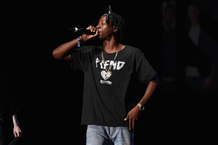 Hip-hop artist Joey Badass performs during the Island Records and Marriott Rewards presentation of ISLAND LIFE featuring Nick Jonas, Shawn Mendes, American Authors, Kiesza and Timeflies with host Keke Palmer, and special guest DJs Ansolo and Sam Feldt at Best Buy Theater on September 8, 2015 in New York City