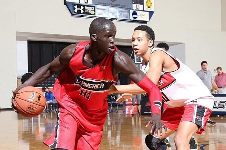 Thon Maker drives to the hoop.