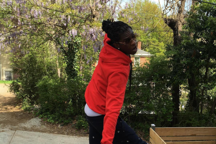 Young Thug posing weird
