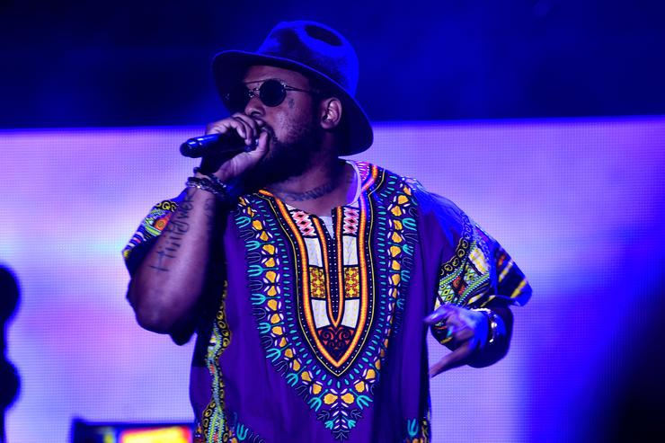Schoolboy Q performs on stage at Coachella 2016