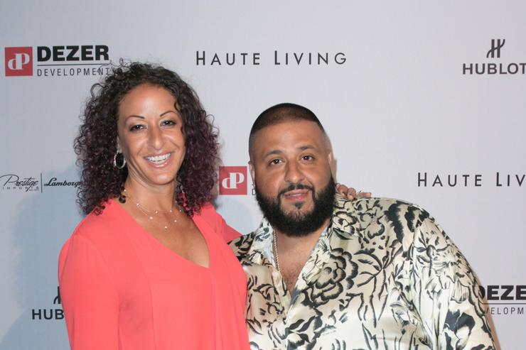 Nicole Tuck and DJ Khaled arrive at the Prestige Imports And Hublot Celebrate DJ Khaled Haute Living Cover Launch at Cipriani Downtown Miami on April 4, 2016 in Miami, Florida. (Photo by John Parra/Getty Images