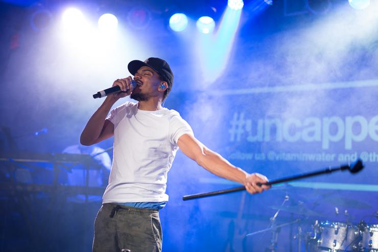 Chance the Rapper performs at the vitaminwater And The Fader Unite To 'HYDRATE THE HUSTLE' For Fifth Anniversary Of #uncapped Concert Series on October 3, 2015 in New York City.