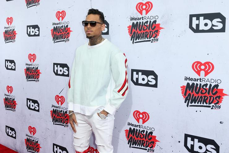 Chris Brown at the iHeart Radio Awards