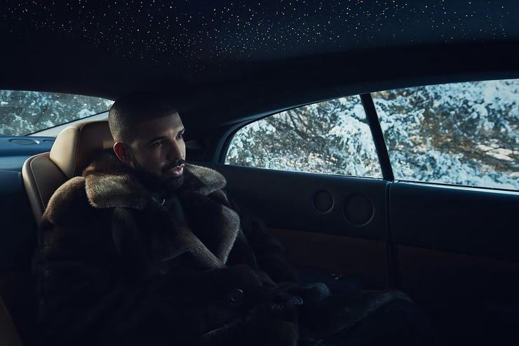 Drake riding in Bentley for Views ad