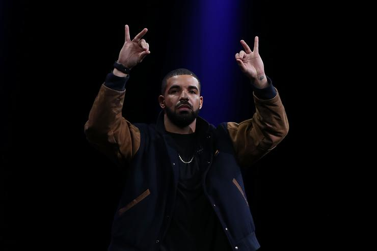 SAN FRANCISCO, CA - JUNE 08: Recording artist Drake speaks about Apple Music during the Apple WWDC on June 8, 2015 in San Francisco, California. Apple annouced a new OS X, El Capitan, iOS 9 and Apple Music during the keynote at the annual developers conference that runs through June 12.