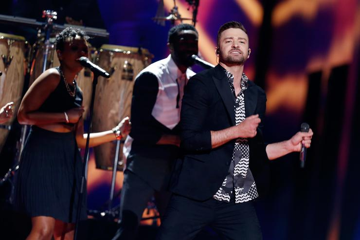 Justin Timberlake performing at Eurovision Song Contest 2016