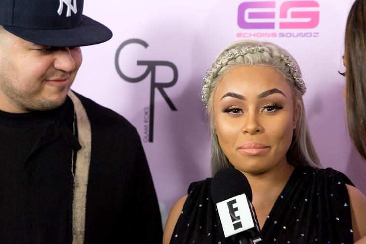 Blac Chyna and Rob Kardashian at the launch of her Chymoji app